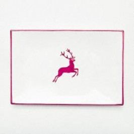 Gmundner Ceramics Red Deer Platter Rectangular 30 cm