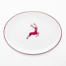 Gmundner Ceramics Red Deer Oval Platter 33 cm