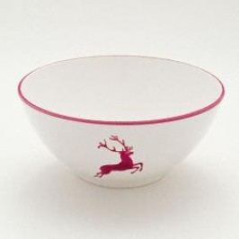 Gmundner Ceramics Red Deer Round Bowl 23 cm