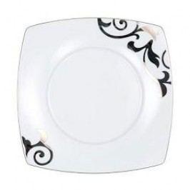 Königlich Tettau Jade Garbo Platin Breakfast Plate Square 22.5 cm