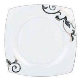 Königlich Tettau Jade Garbo Platin Plate Flat Square 28 cm