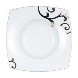 Königlich Tettau Jade Garbo Platin Plate Deep Square 24.5 cm