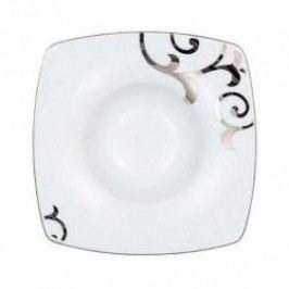 Königlich Tettau Jade Garbo Platin Gourmet Plate Square 15.5 cm