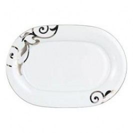 Königlich Tettau Jade Garbo Platin Oval Platter 36 cm