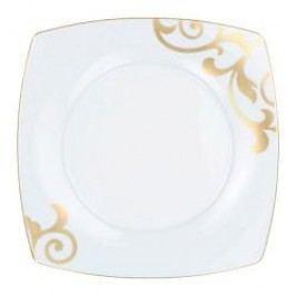 Königlich Tettau Jade Garbo Gold Plate Flat Square 28 cm