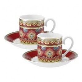 Villeroy & Boch Samarkand Rubin Espresso cup and saucer set, 4 pcs