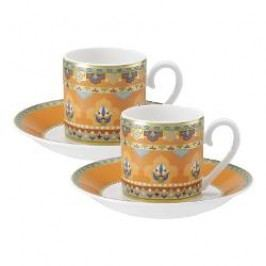 Villeroy & Boch Samarkand Mandarin Espresso cup and saucer set, 4 pcs