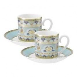 Villeroy & Boch Samarkand Aquamarin Espresso cup and saucer set, 4 pcs