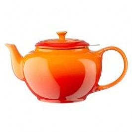 Le Creuset Poterie Classy teapot+stainless sifter, colour: red, 1.3 L