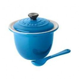 Le Creuset Poterie Küchenartikel - Servieren Dutch oven, colour: blue + spoon, 10 cm / 0.2 L