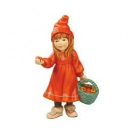 Goebel A Winter Tale - From the North Pole to the City Britta with Apples - Figurine h: 15 cm