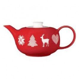 Friesland Happymix Weihnachten Rot Teapot 1,0 L