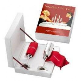 Robbe & Berking Dinner for two - Alta 90 g versilbert Champagne flute, 2-pcs. set in a gift box, d: 5 cm / h: 25 cm