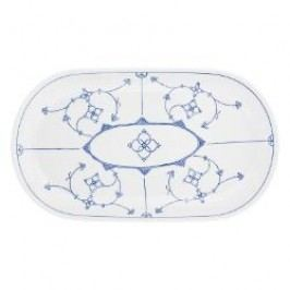Kahla Blau Saks - Indisch Blau - Stohblumenmuster Platter oval 32 cm
