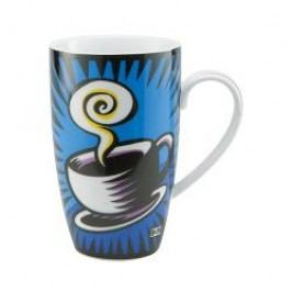 Goebel Artis Orbis - Pop Art - Burton Morris Coffee Break Blue - Mug with Handle made of Porcelain h: 15 cm / 0,4 L