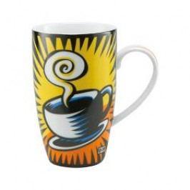 Goebel Artis Orbis - Pop Art - Burton Morris Coffee Break Yellow - Mug with Handle made of Porcelain h: 15 cm / 0,4 L