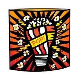 Goebel Artis Orbis - Pop Art - Burton Morris Kernel of Knowledge - Lamp made of Glass 25x25 cm