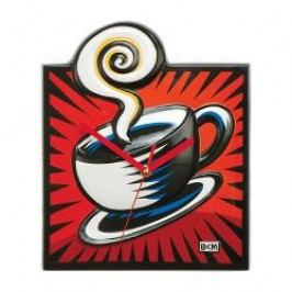 Goebel Artis Orbis - Pop Art - Burton Morris Wall clock 'Coffee Break Red' porcelain 24 x 29.5cm
