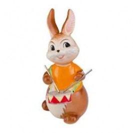 Goebel Musikkapelle Decorative figurine 'Bunny an easter drummer ' height: 10.5 cm