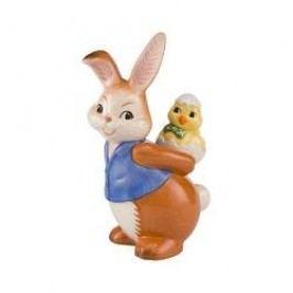 Goebel Der Hase und seine Freunde - Osterüberraschung Decorative figurine 'Bunny and chicken go for piggyback ride' height: 10.5 cm