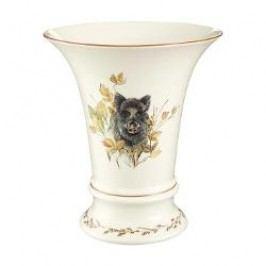 Königlich Tettau Achat Diamant - Jagd Vase Old Thuringia - Wild pig 19 cm