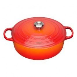 Le Creuset Gourmetbräter French oven color: flame/ red 30 cm / 6.2 L