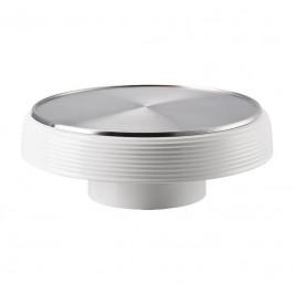 Thomas ONO weiss / Metall Food Presenter / Platte auf Fuß / Obstschale d: 33,5 cm