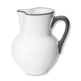 Gmundner Keramik Grauer Rand Krug Wiener Form 1,5 L