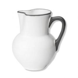Gmundner Keramik Grauer Rand Krug Wiener Form 1,0 L