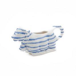Gmundner Keramik Blaugeflammt Milchgießer Milchkuh 0,16 L / h: 9,2 cm