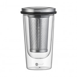 Jenaer Glas Food & Drinks - Hot n cool Tee-Set mit Becher 0,35 L Siebablage und Deckel 3-tlg.