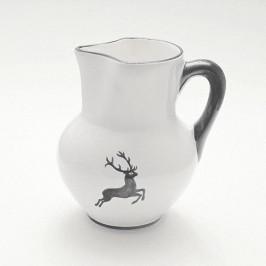 Gmundner Keramik Grauer Hirsch Wiener Krug Form 1 L / h: 8,8 cm
