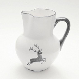 Gmundner Keramik Grauer Hirsch Wiener Krug Form 1,5 L / 20 cm