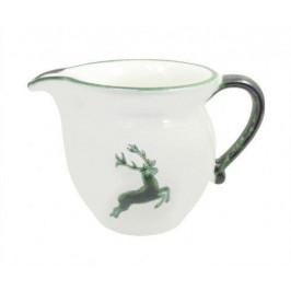 Gmundner Keramik Grüner Hirsch Milchgießer glatt 0,5 L / h: 10,8 cm