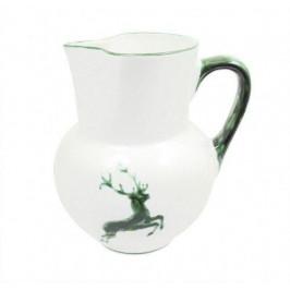 Gmundner Keramik Grüner Hirsch Krug Wiener Form 1,5 L / h: 20 cm