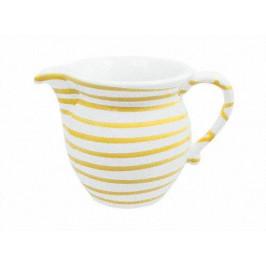 Gmundner Keramik Gelbgeflammt Milchgießer glatt 0,5 L / h: 10,8 cm