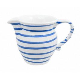 Gmundner Keramik Blaugeflammt Milchgießer glatt 0,5 L / h: 10,8 cm