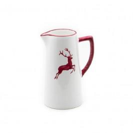 Gmundner Keramik Bordeauxroter Hirsch Wasserkrug 0,7 L / h: 16 cm