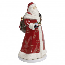 Villeroy & Boch My Christmas Toys Memory Santa drehend - mit Spieluhr 'Santa Claus is coming to town' 17,5x20x34 cm