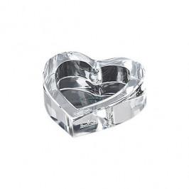 Rosenthal Geschenkserie - Bomboniere Herzschale - Blockglas 7 cm