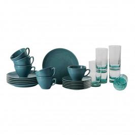 Rosenthal Mesh Colours Aqua Kaffee-Set mit Glas 24-tlg.