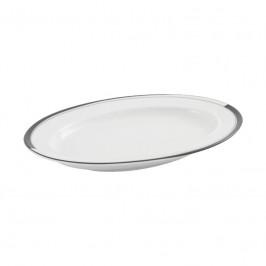 Friesland La Belle Black & White Platte / Sauciere-Unterteil 24,5x16,5 cm