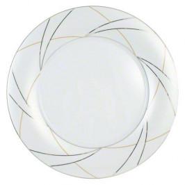 Königlich Tettau Jade Silk Platte rund flach Fahne 30 cm