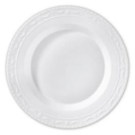 KPM Kurland weiß Platte rund tief 32 cm