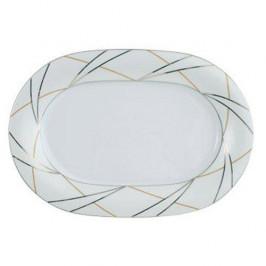 Tettau Jade Silk Platte oval klein 32 cm