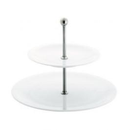 Kahla Update weiss - Belle Etage Etagere Midi 2-tlg. Oberer Teller 21,5 cm / Unterer Teller 31 cm