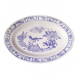 Gien 'Oiseau Bleu monochrome' Platte oval 37 x 26 cm