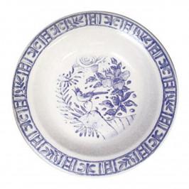 Gien 'Oiseau Bleu monochrome' Platte rund tief 31 cm