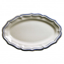 Gien 'Filets Bleus' Platte oval 41 x 26,2 cm