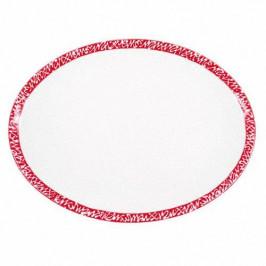 Gmundner Keramik Selektion Rubinrot Platte oval 33 cm